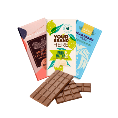 Chocolate bars for private label