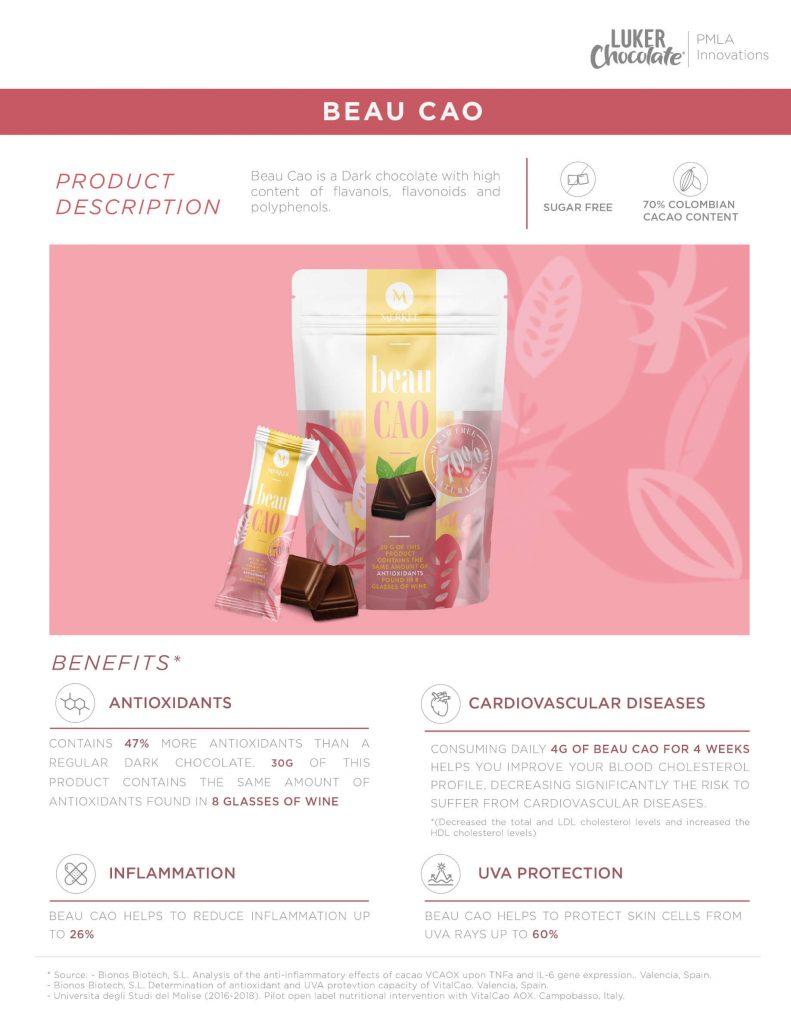 Specifications of Beau cau healthy chocolate