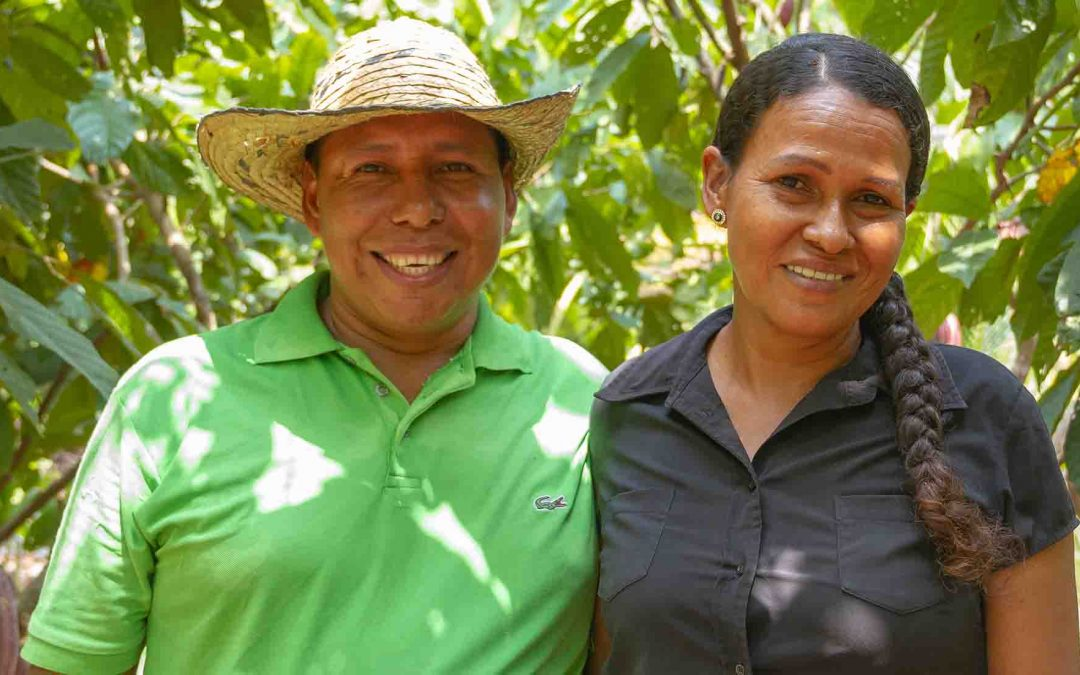 Learn about Colombian cocoa farmers: the hands behind our fine flavour cocoa.